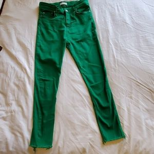 Zara Green colored Denim